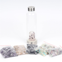 Custom High Quality Stainless Drink Crystal Glass Water Bottle