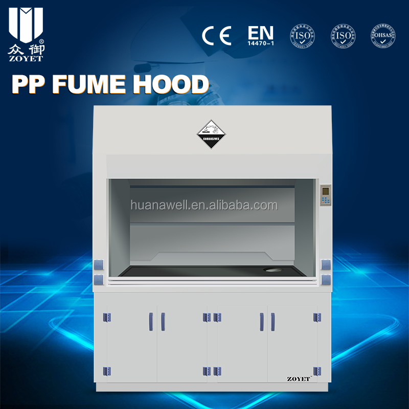 Laboratory chemical PP fume hood for corrosive chemicals by China Factory