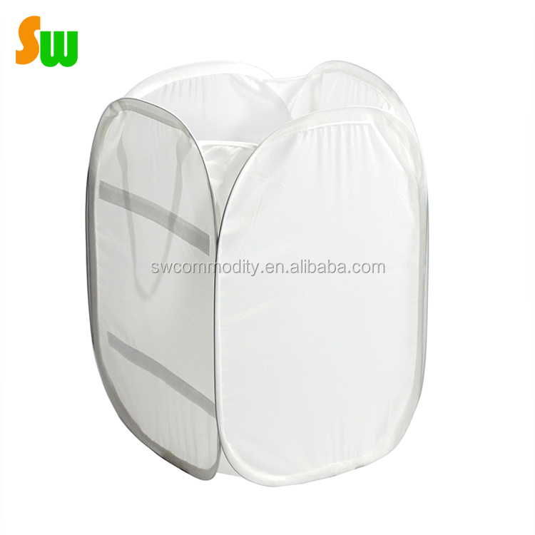 New Arrival folding laundry basket 3PCS connection custom mesh bags