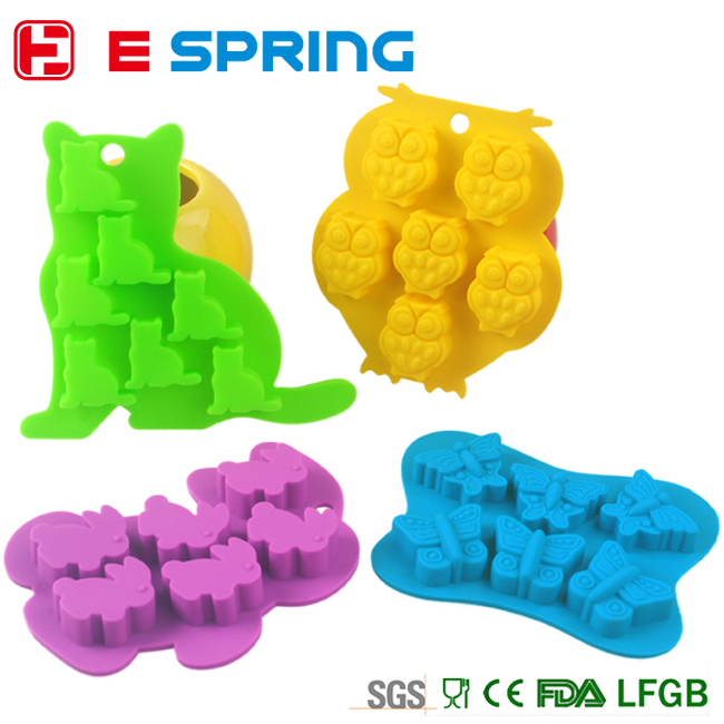 Baby lovely different small animal shape baking mold silicone for mould making
