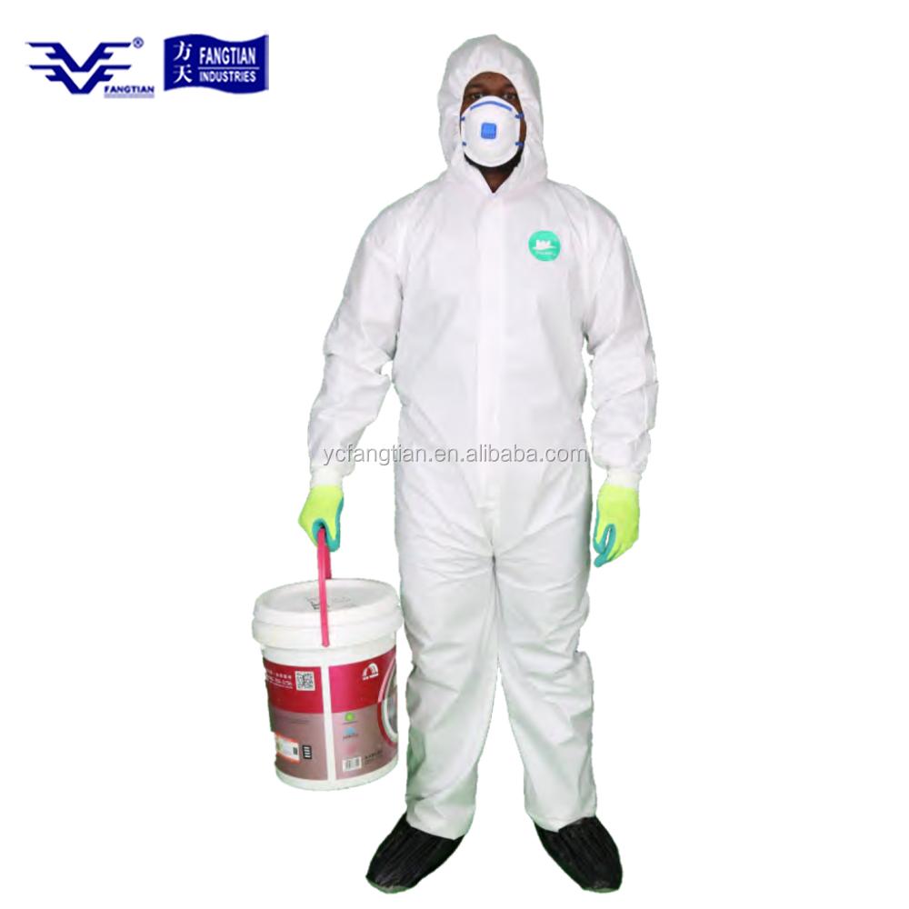Sécurité Vêtements de protection jetables Combinaison Costume Anti Virus