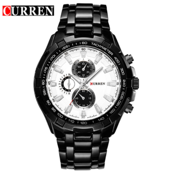 8023 HOT Watch 2016 CURREN Men Quartz Six hand Three Eyes Analog Display Military Male Watches For Men Waterproof Relogio