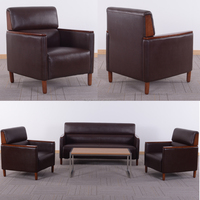 HL-8056b new design manager sofa antique design walnut style office sofa