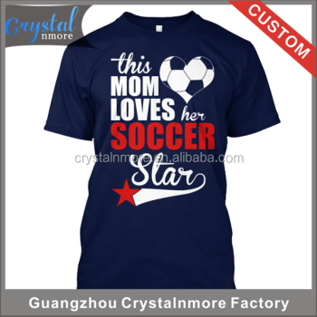 Quality Custom T shirt Silk Screen Printing Soccer mom