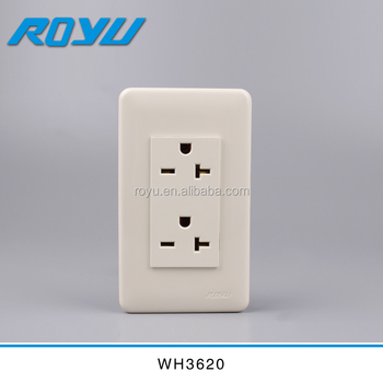 Double 20A electrical outlet, View Double 20A outlet, ROYU, LIDE ...