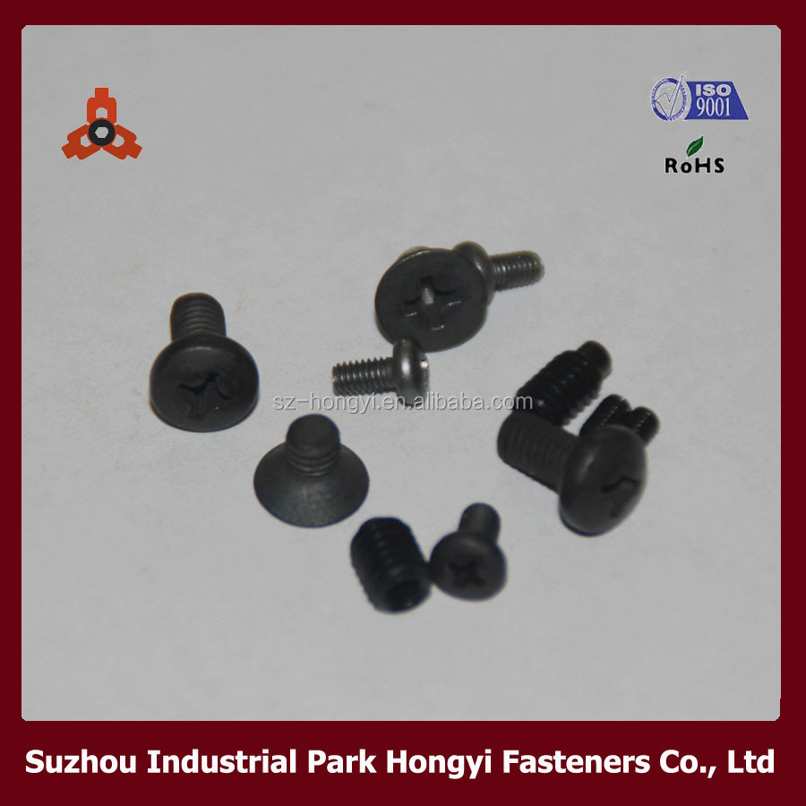 China Fastener Manufacturer DIN Black Zinc Plated Combination 1.5mm Screw
