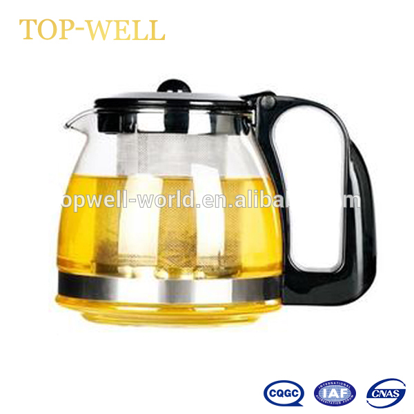Strict High Quality 1100ml Stainless Steel Glass Teapot Loose Infuser Coffee Tea Leaf Herbal With Removable Infuser Less Expensive Electric Kettle Parts Kitchen Appliance Parts