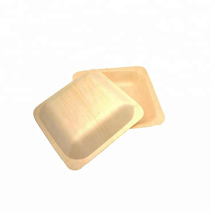 12cm Different Shapes Dinner Wooden <strong>Plates</strong> 100pcs/pack