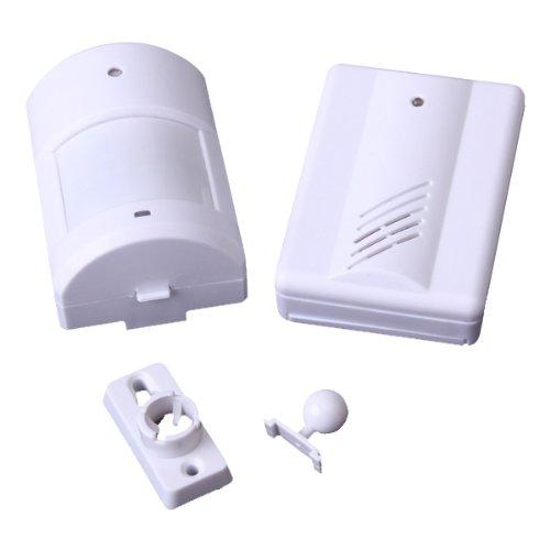 100% новый беспроводной инфракрасный тревожный монитор запись дверной звонок колокольчика -- белый