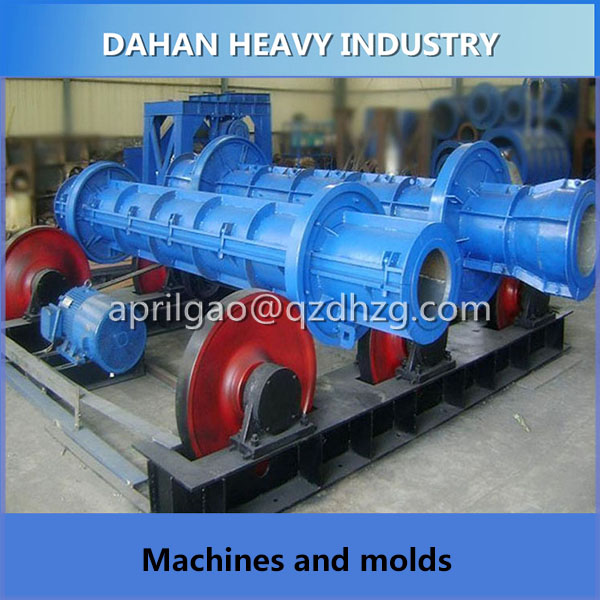 Nigeria standard concrete Electrical railway catenary and pole making machine