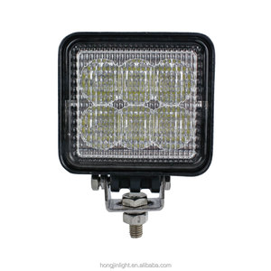 Wholesale 12v 24v 18w 3inch square led work light flood beam cars atv IP67 led headlight