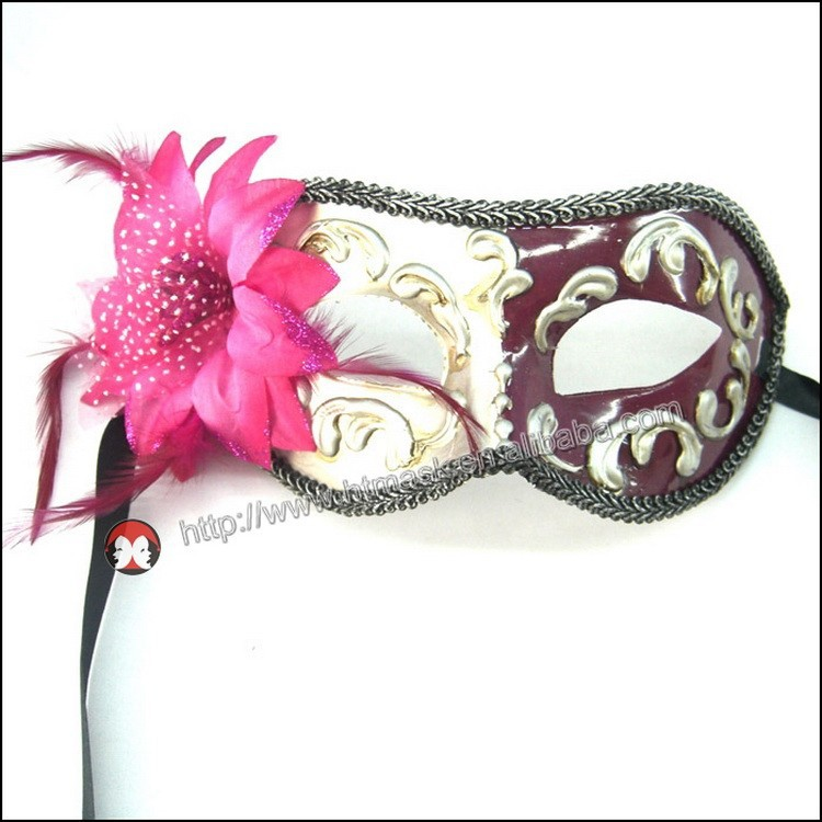 fashion party mask Luxury Venetian Laser Cut Metal Flower Masquerade mask Costume Prom Party