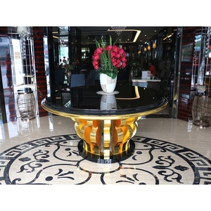 Bowson Big Luxury Modern Wooden Commercial Hotel Furniture Lobby Entrance Table