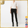 2016 New design ladies Off white silk v-neck blouse for women