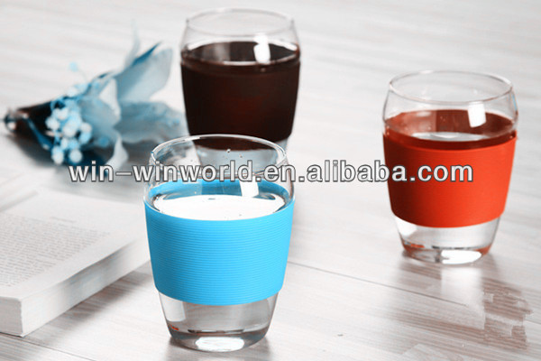 2014 Promotionan Gift Colorful Silicone Grip Bulk Chinese Tea Cups