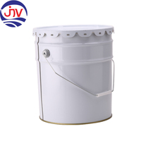 White Coating Tin Pail 5 Gallon Galvanized Paint Bucket In Stock