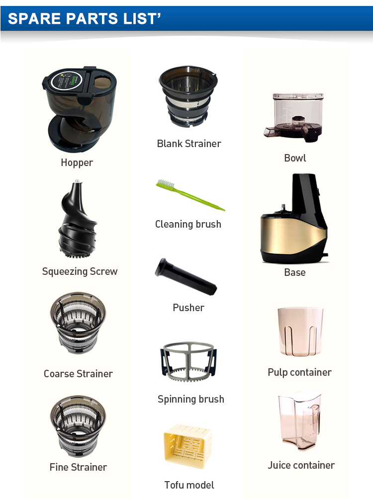 The best choice factory directly cold press juicer slow