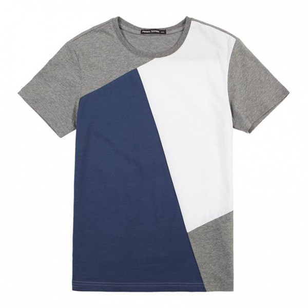 Mixture color 100% cotton material handsome stripes tshirts