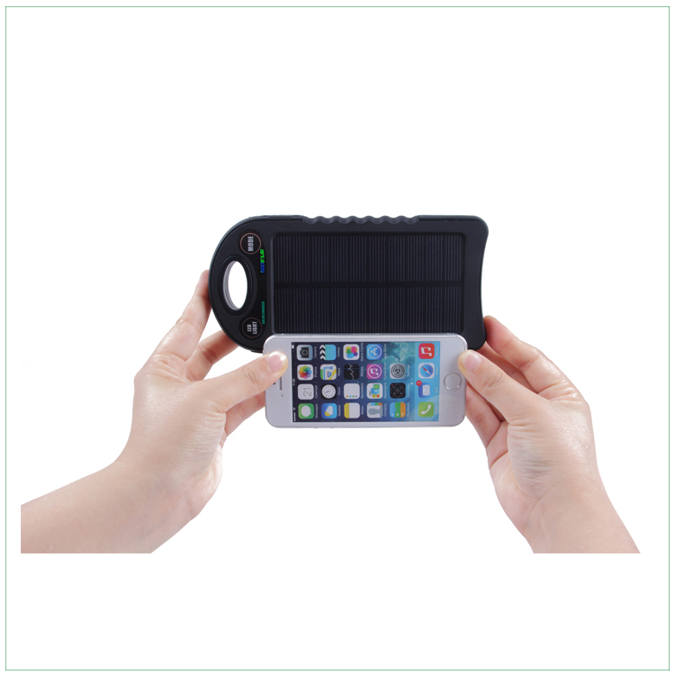 solar cell phone charger 10000mah portable solar charger with 2A input and 2A output for mobile phones
