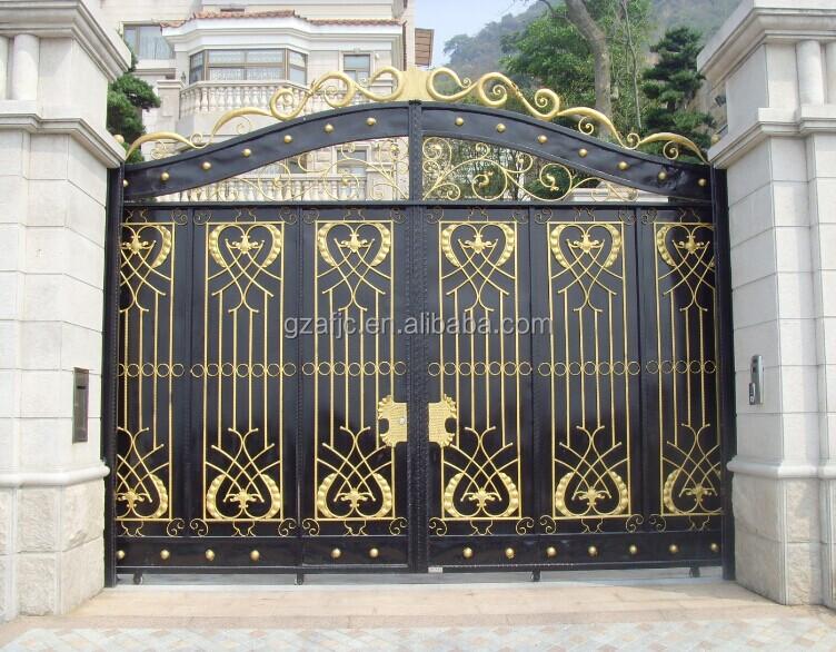 Villa Metal Yard Gate Metal Cattle Gate Modern Main Gate