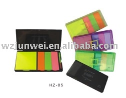Hz-917 Neon Paper Sticky Memo Pad With Business Plastic Dispenser ...
