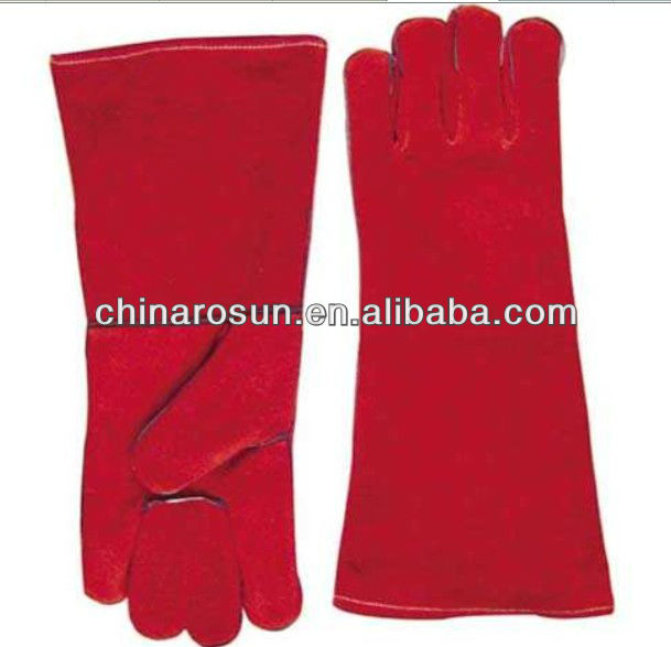 Cow Split Leather Work Glove Safety Glove Leather Welding Gloves