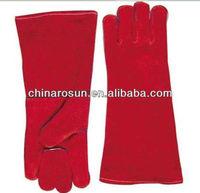 Cow Split Leather Work Glove Safety Glove Leather Welding Gloves
