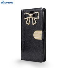 Flip Cover Cell Phonecase Leather Adjustable Mobile Phone Case With Credit Card Holder For Moto E4 Plus