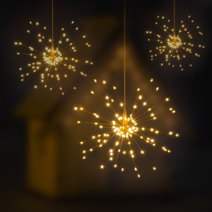 Fairy String Light 120LED Battery Operated Starburst Holiday Fireworks Tree Lights