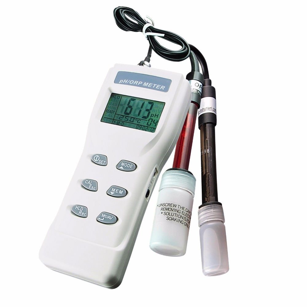 Professional Digital 3-in-1 Heavy Duty ORP pH mV & <strong>Temperature</strong> (deg.C/deg.F) Meter w/ auto buffer recognition