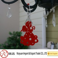 Custom High Quality Angel Felt Christmas Hanging Ornament