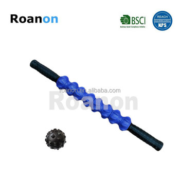 Massage stick with spiky balls Pressure point muscle foam roller