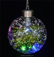 New custom christmas ornaments, clear christmas innovative gadget with led light and plastic paper as home interior decorating
