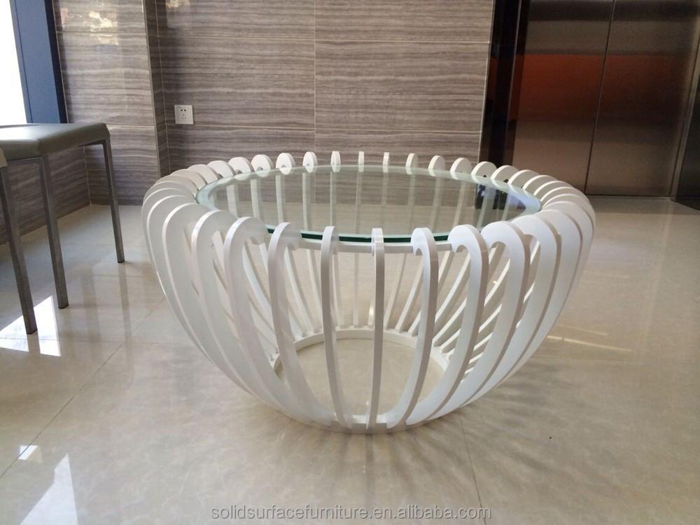 Breath Taking Artificial Stone Unique Living Room Central Table