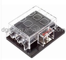 6 Way Blade Fuse Box Holder Positive Bus in 12V LED Warning Kit Car Boat Marine