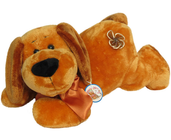 wholesale lovely plush brown dog toys Stuffed soft puppy animal manufacturer