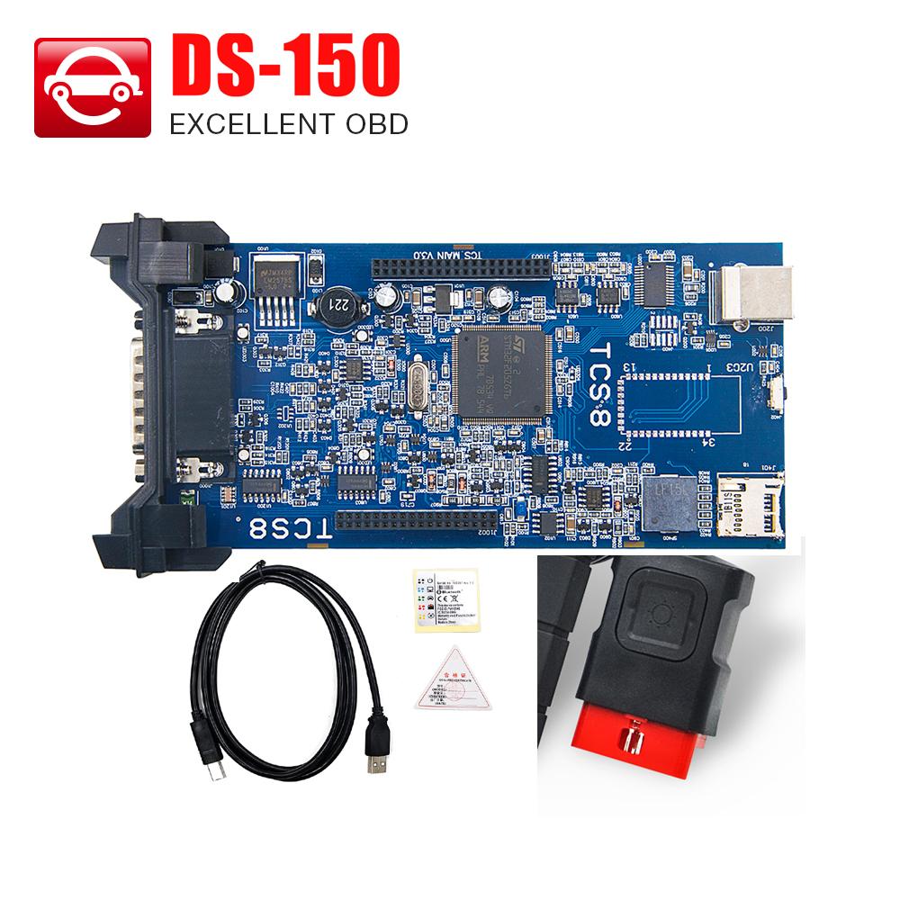 Бесплатная активированный уголь! 2014.03 нет серийник ds150 программного обеспечения DS150e новый VCI нет Bluetooth TCS PRO для автомобилей / грузовиков авто OBD OBDII сканер