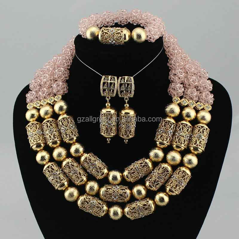 AZ2458 fashion design african jewelry beads sets for nigerian wedding bridal jewellery dubai 18k gold accessories or silver