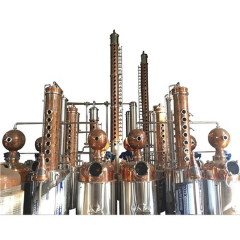 DYE Customized Copper Distiller Stainless Steel Industrial Alcohol Distillation Equipment for Sale