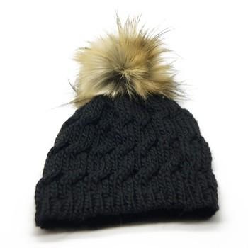 ad24916b22e Snap Button Faux Fur Pom Pom Hat Raccoon Fur Ball Puff Ball - Buy ...