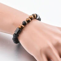 Wholesale Hotselling Tiger Eye Lava Stone Bracelet Bangle Men Women
