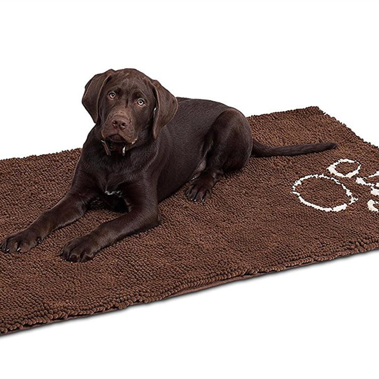 Deuren ontwerpen chenille non slip hond voedsel mat