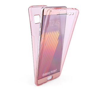 360 full tpu Double design transparent cell phone case for samsung galaxy note 5 mobile soft cover