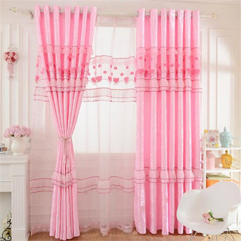 Rose Couleur Imprimé Rideaux Belle Conception Rideau Pour Chambre D ...