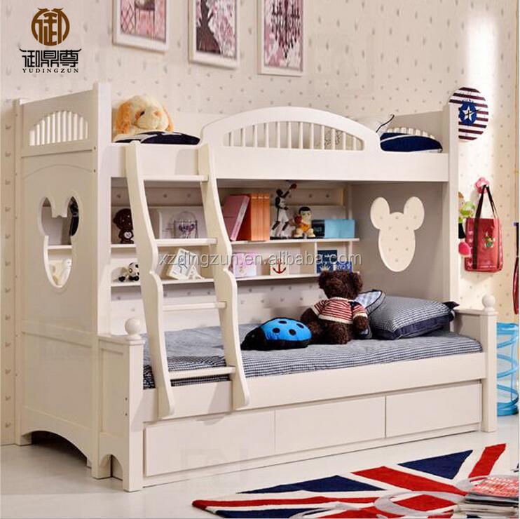 moda doble litera para nios cama de dos pisos de madera maciza