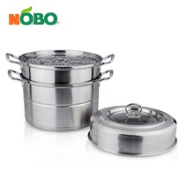 High quality stainless steel kitchen equipment steamer pot for dim sum and steamed bun