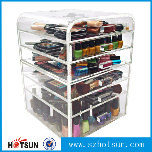 Wholesale Acrylic Makeup Organizer With Drawers Wholesale Acrylic - Acrylic cube makeup organizer with drawers