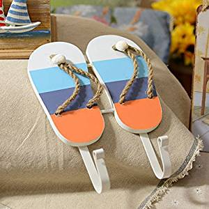 CCWY The Mediterranean decor creative slippers Coat Hook Style Wall Decoration home decoration hanging Coat Hooks