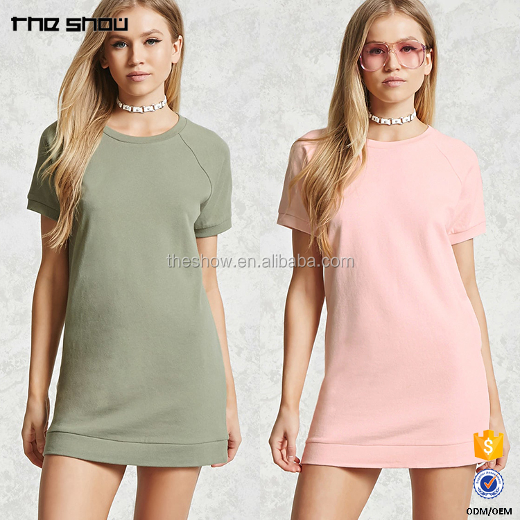 OEM wholesale custom women mini sweatshirt dress top selling products in alibaba for clothes