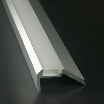 Stair step aluminum profile for led stripes Step nosing aluminium led housing for down lights
